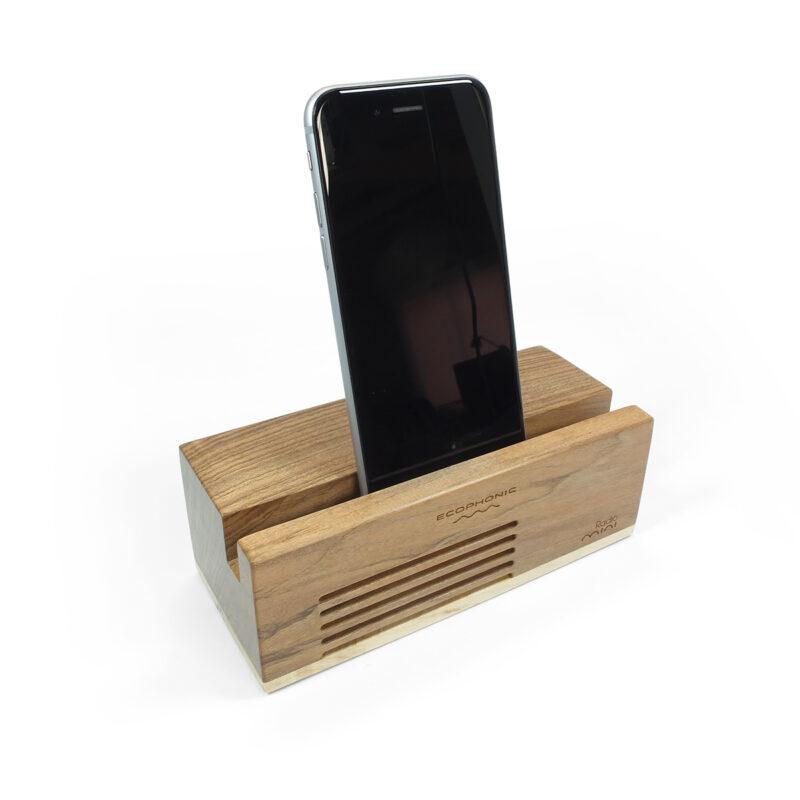 altavoz sostenible radio mini madera de nogal ecophonic