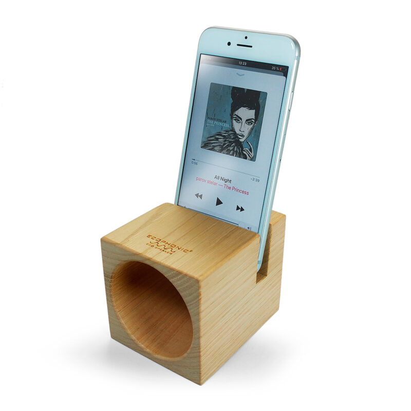 altavoz de madera ecophonic