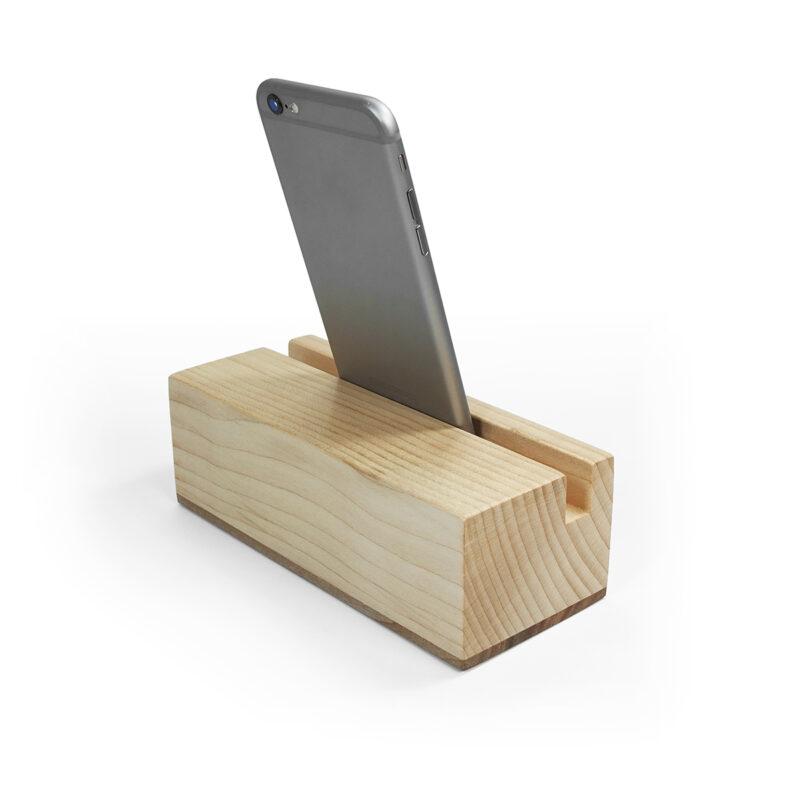 Ecophonic mini radio speaker in maple wood for mobile phones
