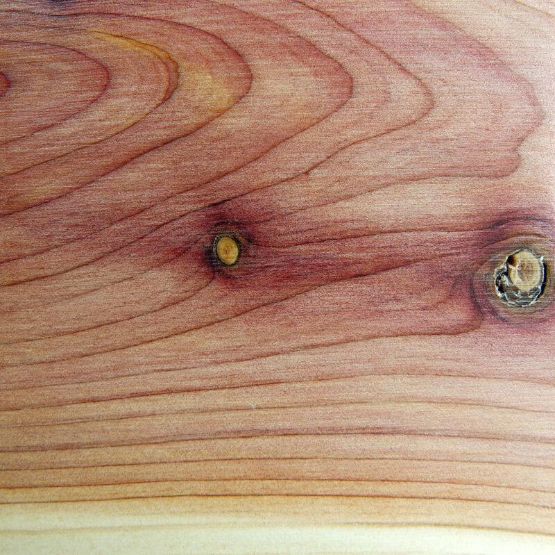 Detalle Altavoz UNO en madera de sabina albar | Ecophonic