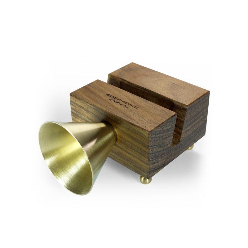 retro madera altavoz